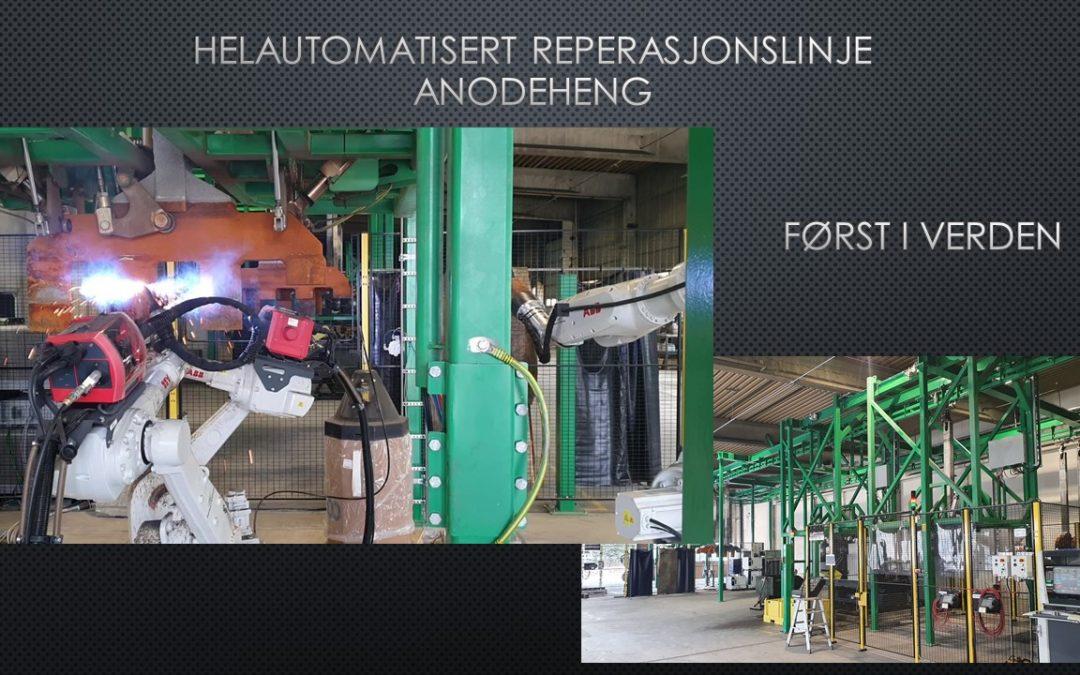 Første fullautomatiserte og robotiserte reparasjonslinje for anodeheng i verden
